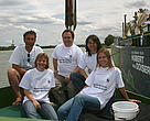 Hubert von Goisern and WWF members on tourboat