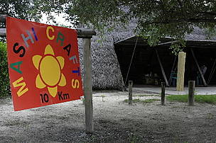 Mashi Crafts centre near Kongola, Mayuni Conservancy, East Caprivi, Namibia. The Mashi Craft centre ... / ©: WWF / Folke WULF