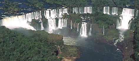 Iguaçu National Park - Iguaçu falls, Atlantic rainforest, Paraná, Brazil. rel=