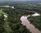 Aerial Photo of Manuripi River, Department of Pando, Bolivian Amazon.