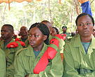Village Game scouts during a graduation ceremony in Tanzania