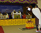 The Climate Summit for a Living Himalayas opens with a traditional Bhutanese ceremony.