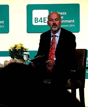 WWF International's Executive Director of Conservation Lasse Gustavsson at the B4E, Business for the Environment, the annual global summit facilitating dialogue and business-driven action for the environment.