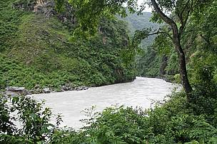 Seti river corridor in CHAL that links Panchase Protection Forest to Annapurna Conservation Area.
