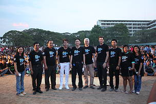 Country Director of WWF-Cambodia, Representative of U.S. Ambassador and Representative of MoE attended at the Earth Hour Cambodia event