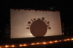 Group of students from Art School performed Shadow Muppet at the Earth Hour Cambodia event