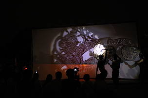 A group of students performed Lh'koun S'bek Thom at the Earth Hour Cambodia event