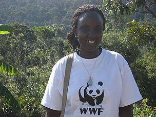 Sylvia Kawera from Rwanda; WWF volunteer in Madagascar in 2013  	© WWF / Sylvia Kawera