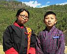 Dorji Wangmo (left) with her team mate Tenzin.