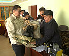 WWF Mongolia equipped the Saiga rangers' team with new motorbikes, binoculars, GPS, photo camera, and winter and summer uniforms
