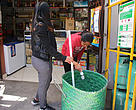 Sorting bins of a grocery store in Antsakaviro