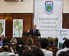 WWF-US CEO Carter Roberts lecturing at the University of Yangon.