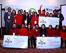 Four winning green business ideas - Ground Apple, Tyre Treasure, Sishnu, Chepang Ra Paryatan and Wood Gas Stove.