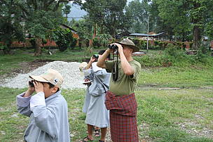 Practical birding sessions lead by Chening Dorji our resident birding expert!