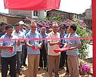 Chief District Officer of Sindhupalchowk – Mr. Hari Krishna Acharya, Joint Secretary of WECS – Dr. Ravi Sharma Aryal and Country Representative of WWF Nepal – Mr. Anil Manandhar jointly inaugurating the Indrawati Sub-Basin Project Office