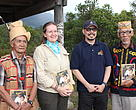 Cristina with indigenous leaders from FORMADAT