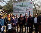 Dr. Bishwa Nath Oli (centre), Secretary of the Ministry of Forests & Environment, made public the status of Chitwan National Park as plastic-free beginning today in the presence of representatives of local and state governments, Chitwan National Park, Nepal Army, private sector and tourism agencies, conservation and civil society organizations, local communities and media.