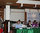 Mr Santosh Mani Nepal, Director of Policy and Support from WWF Nepal, speaking at the forum.