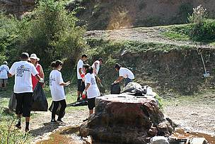 "Cleaning ""Gravi "" Water Spring Nature Monument Area"