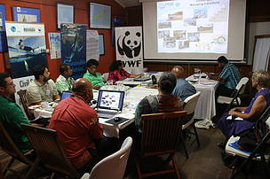 Participants at a recent CSO workshop discussion.