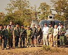 Mr. Matthew Harris and his wife Jennifer Harris made a trip down to Cambodia from the United States to understand the conservation programme better and aim at providing funding support for the tiger reintroduction programme.