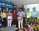 Admission ceremony in WWF-Vietnam office
