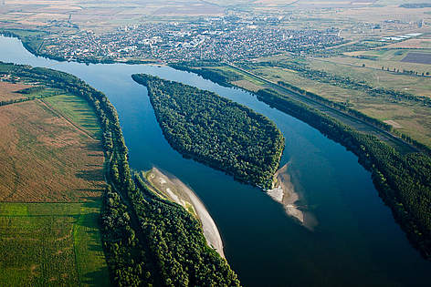 The Danube at Belene, Bulgaria.  rel=