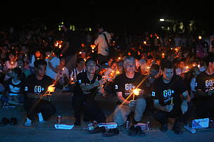 Country Director of WWF-Cambodia, Representative of U.S. Ambassador and Representative of MoE participated at the Earth Hour Cambodia event