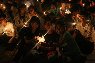 Youth participated and light the candle to celebrate Earth Hour Cambodia event