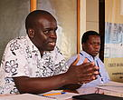 The Conservation Manager for WWF Kenya speaks during the first SEAF Meeting
