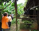 Inspecting a dairy cattle project in East Usambara communities supported by WWF Tanzania Forest program