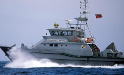Coast guard fisheries inspection vessel, United Kingdom. / ©: WWF-Canon / Edward PARKER