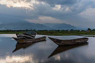 Scenes from the fishing village of Kavanyongi on the northern shores of Lake Edward, in the 'Block V' area of Virunga National Park, Democratic Republic of Congo.