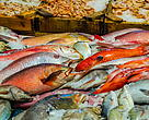 Fresh fish at the fish market
