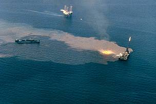 The IXTOC I oil well blowout in the Gulf of Mexico in 1979.