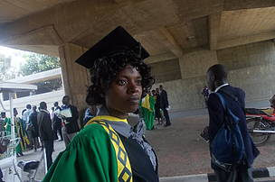 Juliet on her graduation, University of Zambia