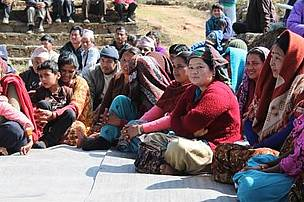 Village women in Bandipur, CHAL