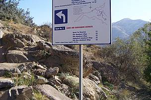 Ecotourism Trail Sign in Garni District of Khosrov Reserve