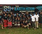 Korovou villagers before carrying out their mangrove planting and waste management activities for Earth Hour.