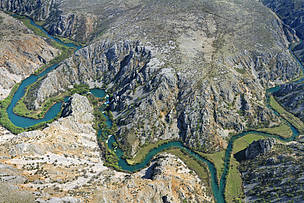 Confluence of Krupa and Zrmanja rivers, Croatia