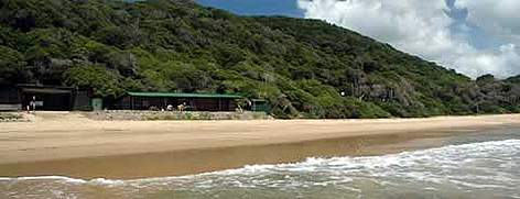 The project headquarters overlooks the sandy beach at Bhanga Nek, in north-eastern KwaZulu Natal. ... rel=