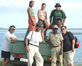 WWF personnel, pictured here on the shores of the Kosi Lakes, recently visited the KZN Turtle ... / ©: WWF / Richard McLellan