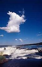 Iguaçu falls from Argentina Atlantic Rainforest, Argentina.