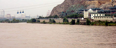Yellow river huang he wwf the yellow river runs through lanzhou the capital of gansu province china rel sciox Image collections