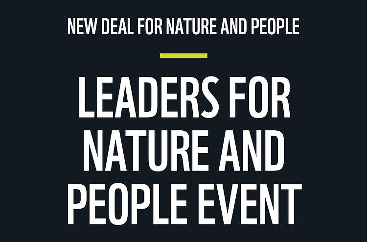 Watch the Leaders for Nature and People Event at the UN General Assembly