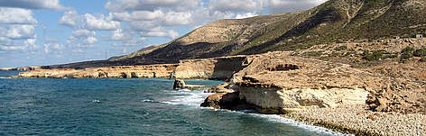 The coastline of the Green Mountain, Eastern Region of Libya rel=