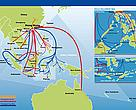 Map of live reef fish trade routes in the Asia Pacific region.