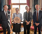 From Left to Right: The Duke of Edinburgh;  Irina Bokova, Director General, UNESCO; Yolanda Kakabadse, President, WWF International; and Marco Lambertini, Director General, WWF International