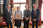 From Left to Right: The Duke of Edinburgh;  Irina Bokova, Director General, UNESCO; Yolanda Kakabadse, President, WWF International; and Marco Lambertini, Director General, WWF International © WWF / fergusburnett.com