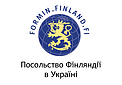 Embassy of Finland in Ukraine logo.